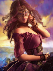 Masquerade- The violet lass by Drakenborg