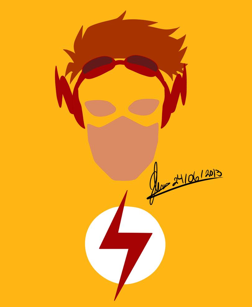 Kid Flash T shirt design by CacklingJackal on DeviantArt