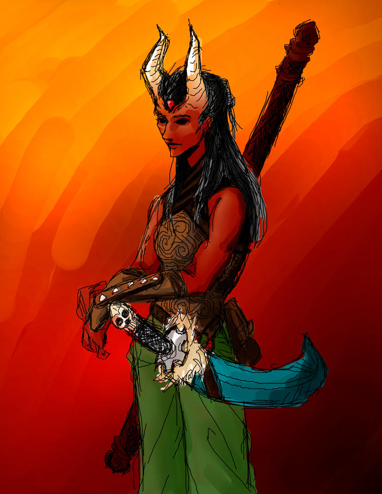 Tiefling Druid by Sarbear-K