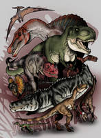 Jurassic Park Bestiary - The Predators by The-Alienmorph