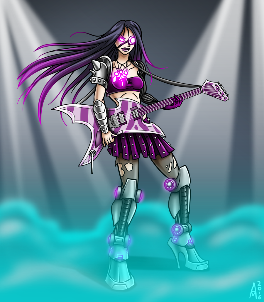 Character Design Challenge April : Character design challenge heavy metal by the alienmorph