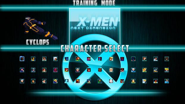 X-MEN: NEXT DIMENSION (ME) Final Select Screen!