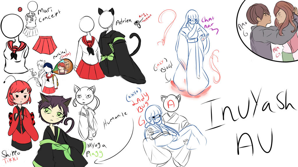 Miraculous Inu : Inuyasha Au (Practice Art Dump) by SilverSky931