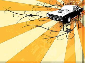 Dodge Charger Vector Wallpaper by nicolai-bauchrowitz