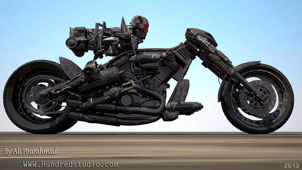 terminator bike by rajanrai on deviantart