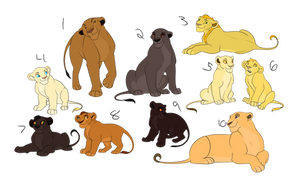 Lion Group 2 by Points-for-Paws