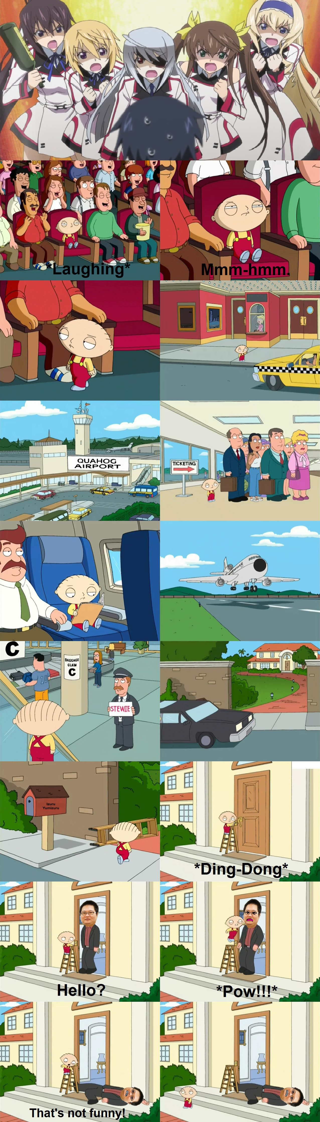Stewie's Problem with Infinite Stratos