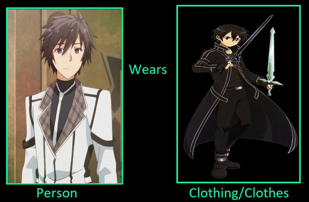 What if Ikki Kurogune wears Kirito's outfit?