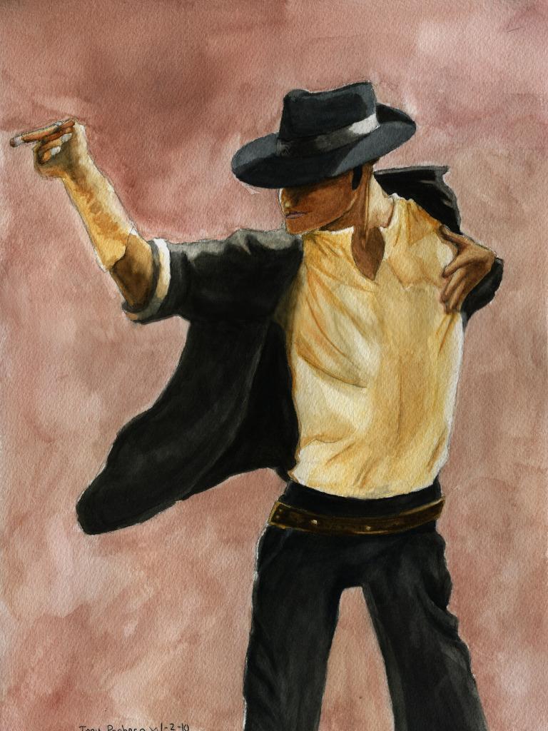 Michael Jackson WaterColor by blondewolf2