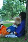 Sasuke and Naruto Sit Still