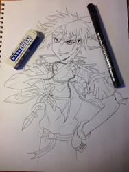 Orphen Ink Drawing