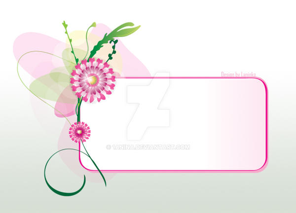 Flower label by 1anina
