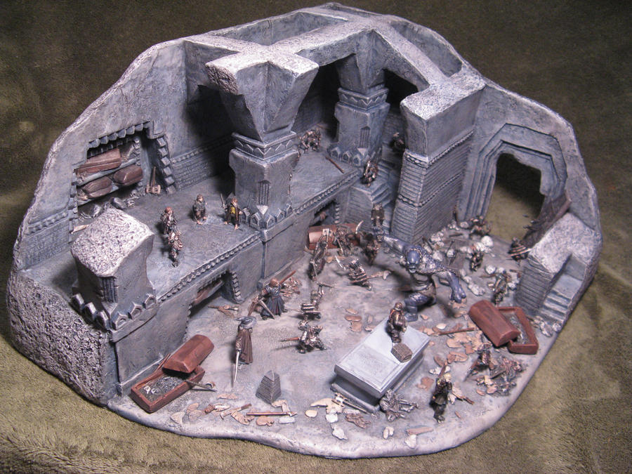 Mines Of Moria Miniature Diorama Scratch Built 1 By