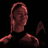 Star Trek portrait series 03 - Uhura - Saldana by jadamfox