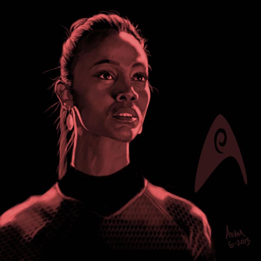 Star Trek portrait series 03 - Uhura - Saldana by jadamfox
