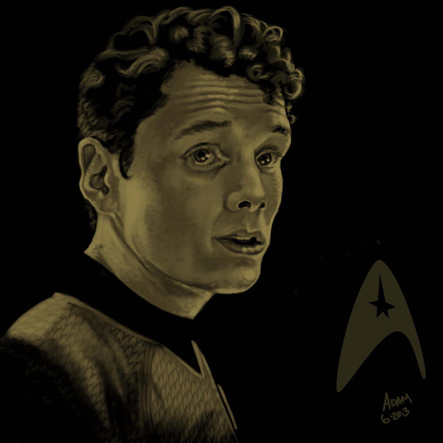 Star Trek portrait series 08 - Chekov - Yelchin by jadamfox