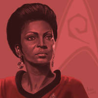 Star Trek TOS portrait series 03 - Uhura - Nichols by jadamfox