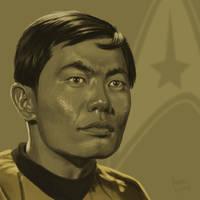 Star Trek TOS portrait series 04 - Sulu - Takei by jadamfox