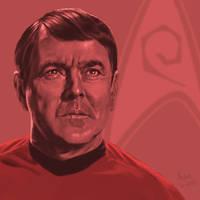 Star Trek TOS portrait series 06 - Scotty - Doohan by jadamfox