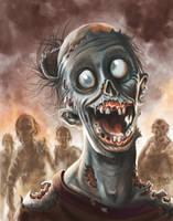 Happy Zombie ~ I call him Phil by jadamfox