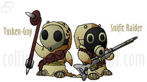 Tusken-Guy and Snifit Raider