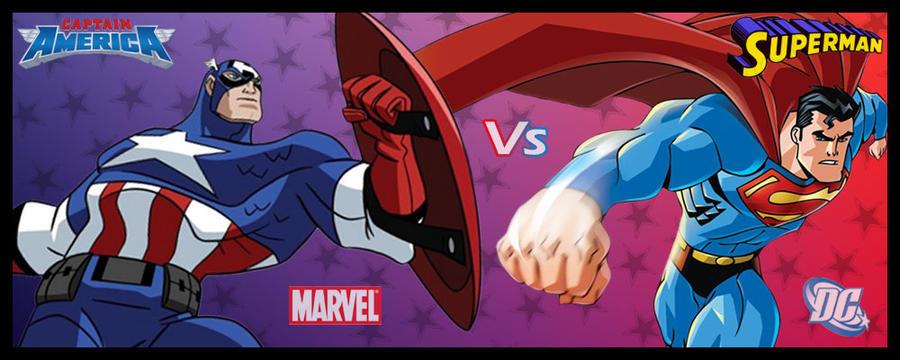 Captain America Vs Superman by LeX-207