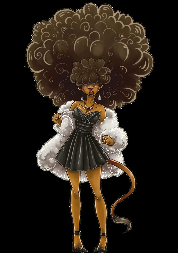 Elegant Afro by yuramecBlack Women Afro Art