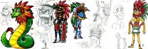 the four Tezcatlipocas by yuramec