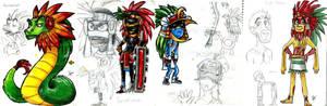 the four Tezcatlipocas