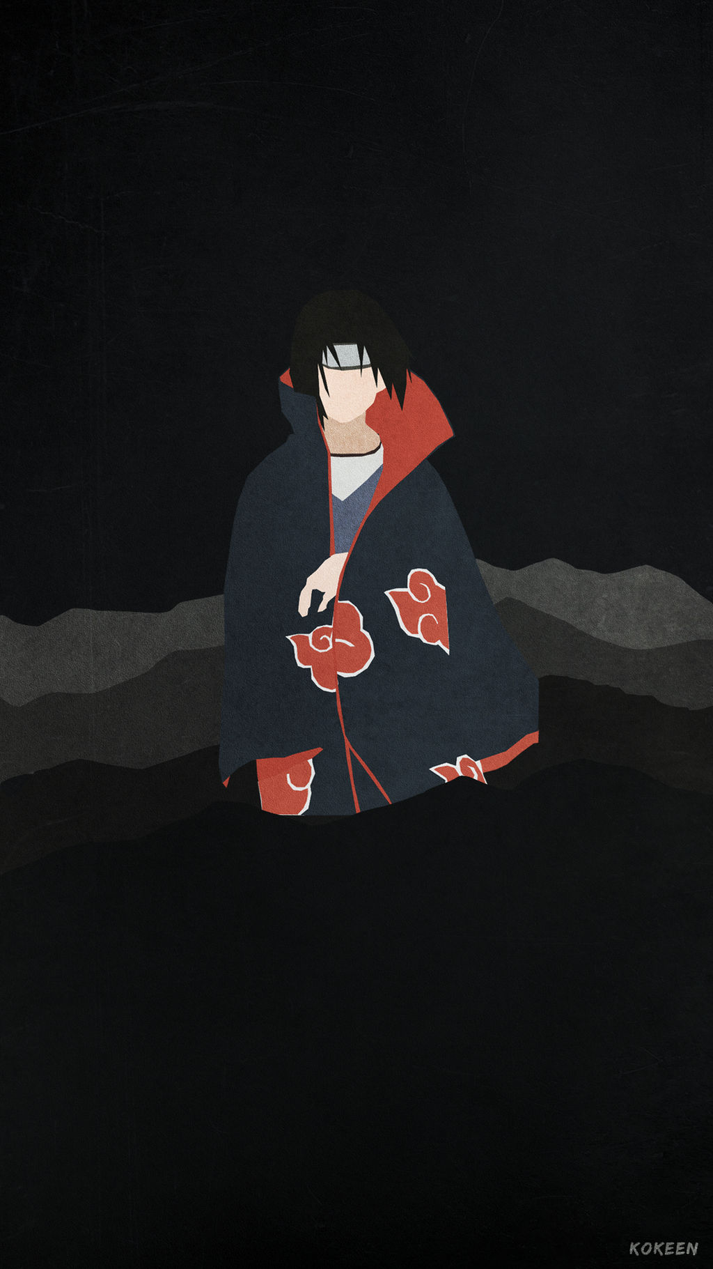 itachi minimalist phone wallpaper by kokeen dbti7i6