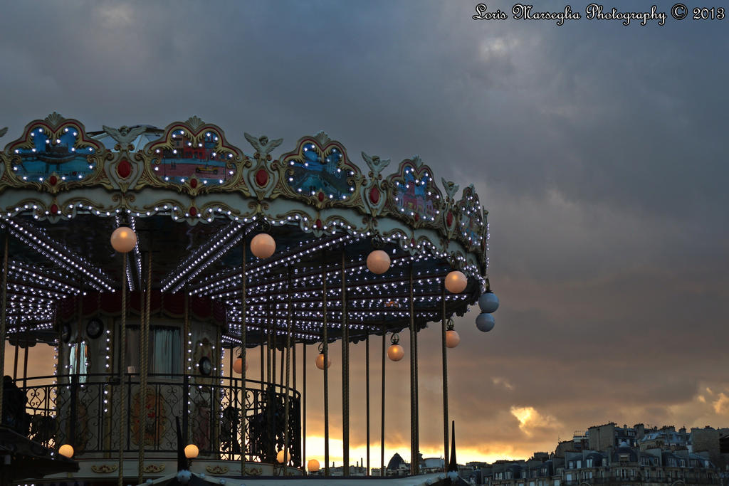 Carousel on the river Seine