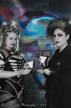 The goth tea party Jessica and Florie