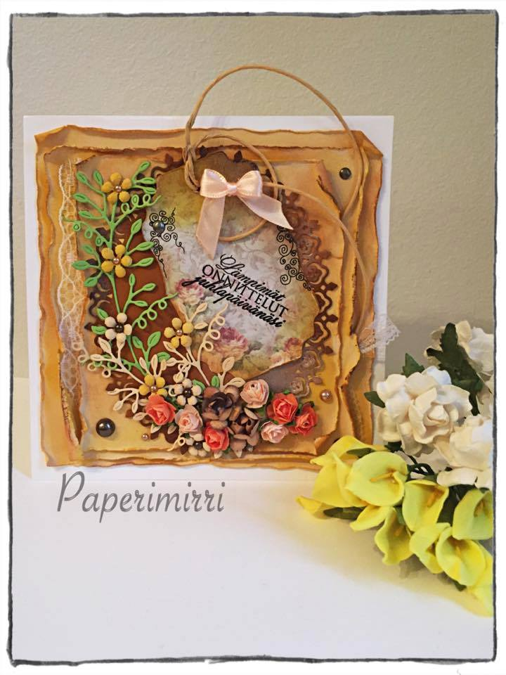 Handmade card with sentiment in finnish by absolugirl
