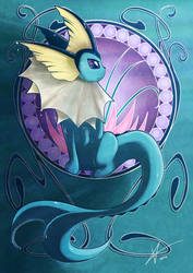 Vaporeon by Cold-Creature