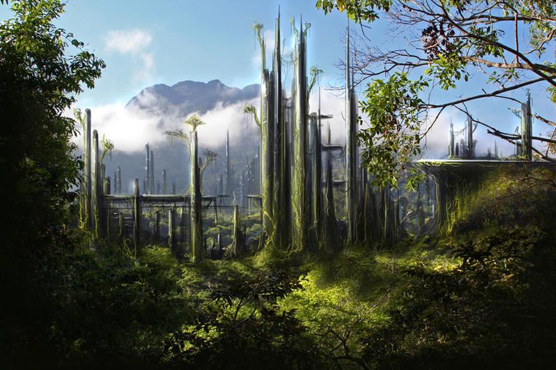 Sci Fi Landscape by angerface