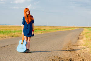 Red Hair Blue Guitar 1 by Sulde