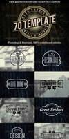 70 Logo   Badge   Insignia Templates Bundle