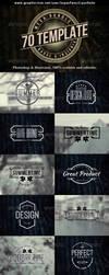 70 Logo   Badge   Insignia Templates Bundle by superpencil666