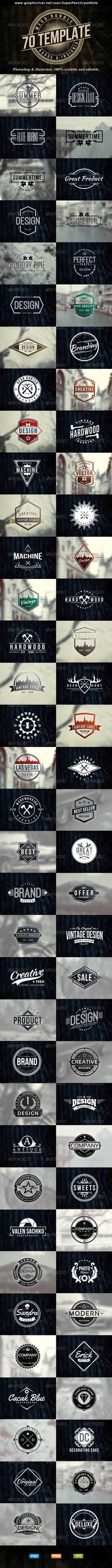 70 Logo | Badge | Insignia Templates Bundle