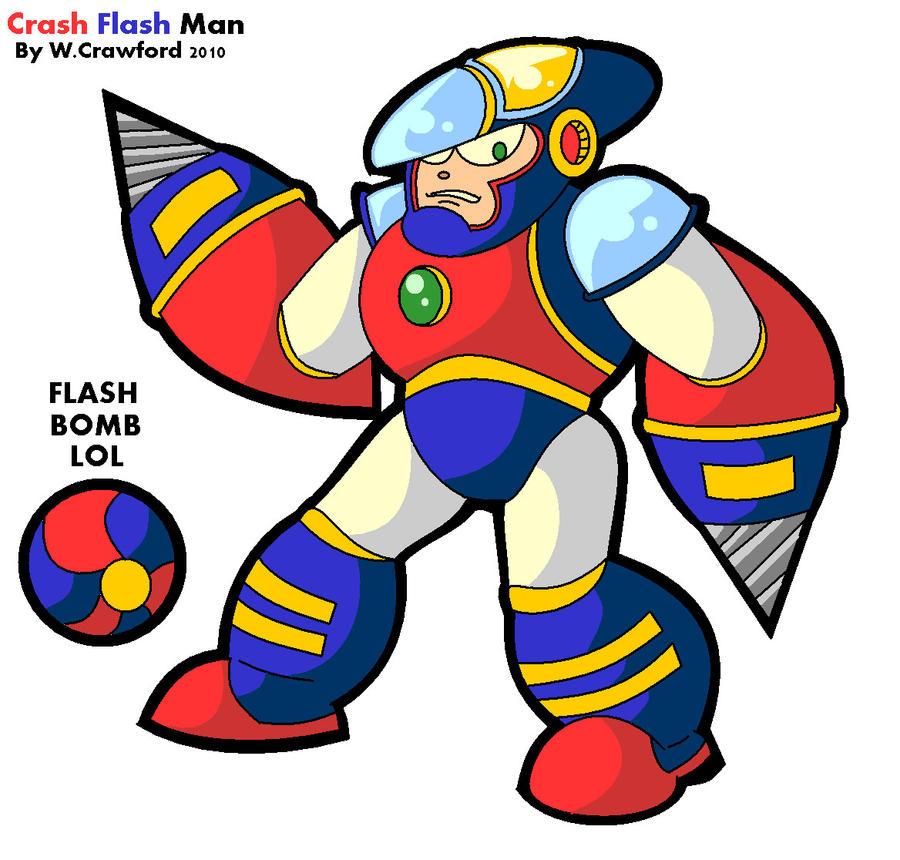 Crash Flash Man by frgrgrsfgsgsfgggsfsf