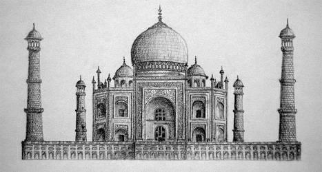 Taj Mahal by Araiel