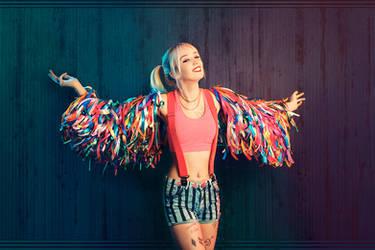 Whiteee Fox - Harley Quinn - Birds of Prey 002 by Araiel