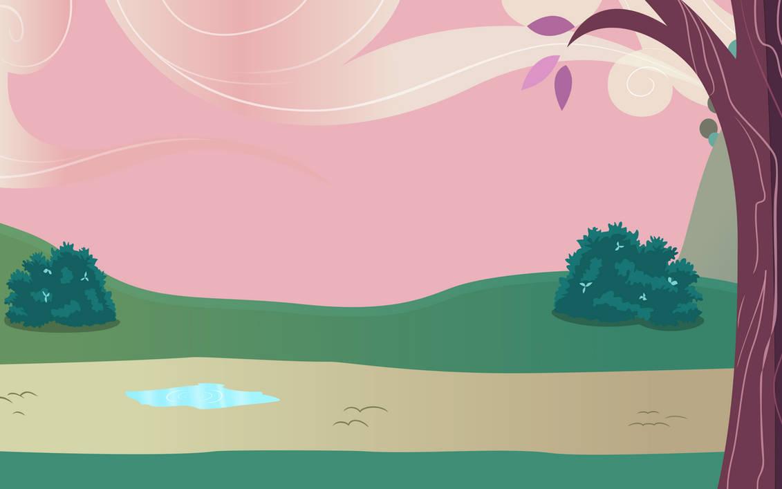 background: Ponyville Outskirts (S02E17) by crasydwarf