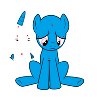 (base) Sad pony by crasydwarf