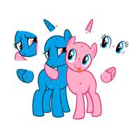 (base) Two pony hug by crasydwarf