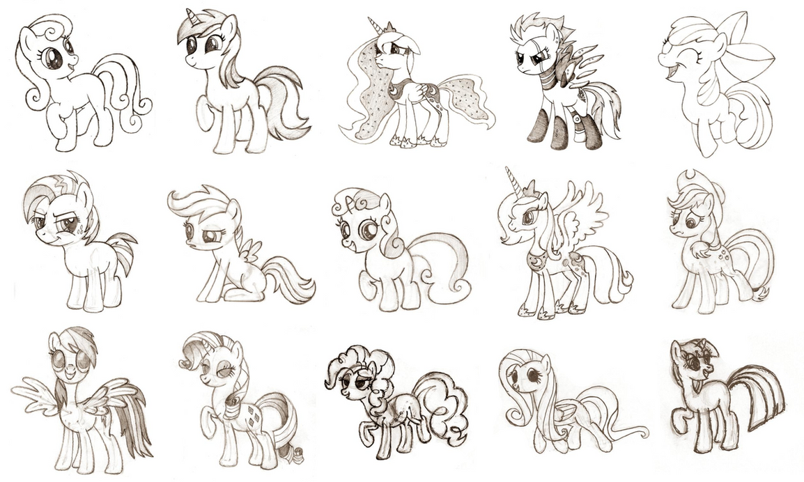 sketch learning to draw ponies 1 15 by crasydwarf on deviantart