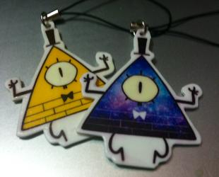 bill cipher necklace and keychain by Zamiiz