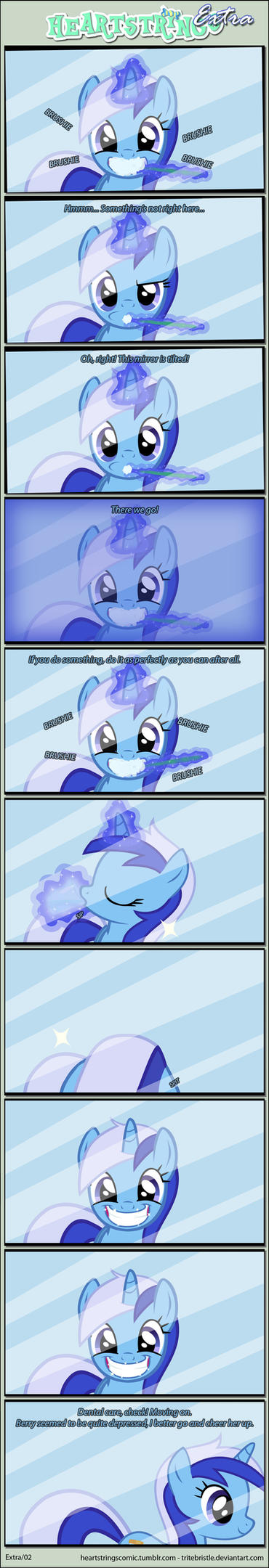 Heartstrings Extra p2 - Brushie brushie! by TriteBristle