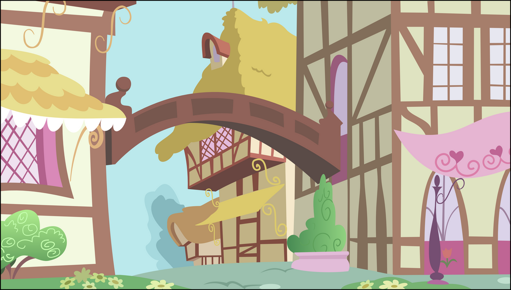 [Background] Ponyville scenery by TriteBristle