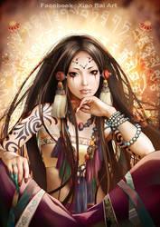 Tibetan Ritual by XiaoBaiArt
